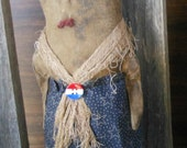 SALE Americana Lady LIberty primitive doll