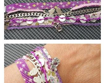 "Cufflinks purple Liberty ""lilac"""