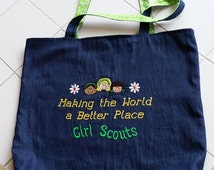 Personalized Girl Scout Tote Bag