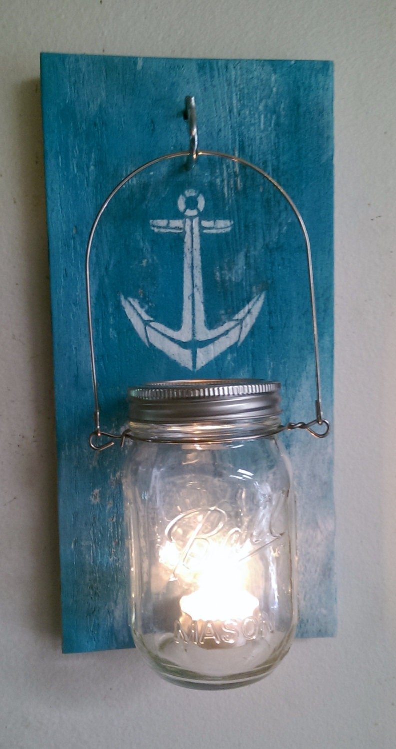 Mason Jar Wall Candle Sconce