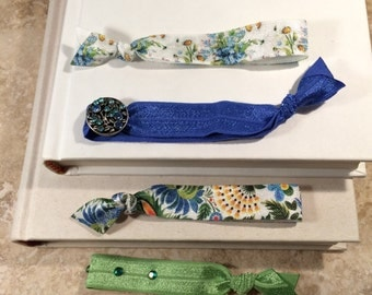 Anthropologie-Inspired Embellished Ponytail Hair Ties