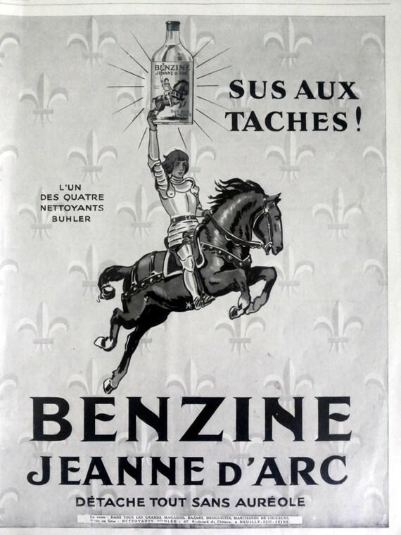 Benzine Jeanne DArc stain remover vintage advertising
