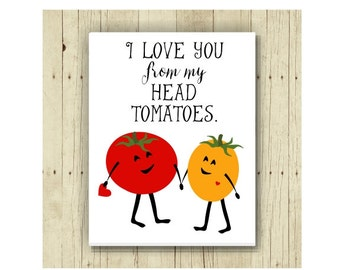 I Love You Magnet, Funny Magent, Refrigerator Magnet, Tomato Pun, Cute Fridge Magnet, Gifts Under 10, Small Gift, Funny Pun, Gift Magnet