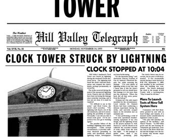 Back to the Future 'Save the Clock Tower' Flyer