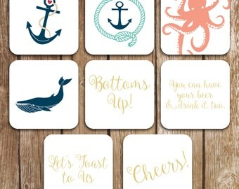 Sets of 10 Double Thick Coasters - Personalize Rounded Corner Coasters - Coaster Sets
