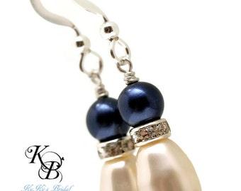 Something Blue Earrings, Something Blue, Something New, Bridal Earrings, Bridal Jewelry, Blue Pearl Earrings, Something Blue Jewelry, Bride