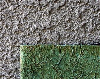 """Light Green/Blue Textured Artist Journal & Sketchbook, 5.5""""x8.5"""", Sepia Linen Drawing Paper"""