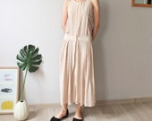 Boho nude silk eyelet lace dress (Sz Small, sample clearance,perfect for wedding/events)