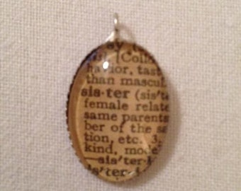 Handcrafted Sister Pendant
