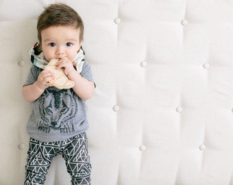 Croissant Wood Teether Baby Toy - The Harlan