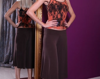 Cropped Jersey Tango Pants | Available in many colors | Ideal for tango practice | Handmade Tango Clothing
