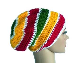 Dreadlock beanie, rastafari hat, Bob Marley rasta hat, Jamaica reggae beanie