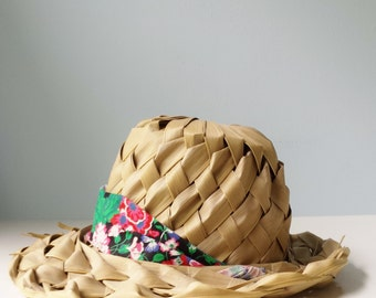 Palm Frond Hat Summer Hat Woven Palm Leaf Sun Hat