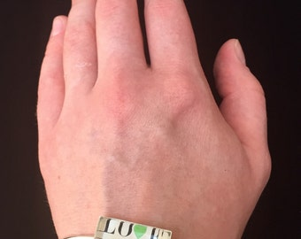 True Love Postage Stamp Bracelet
