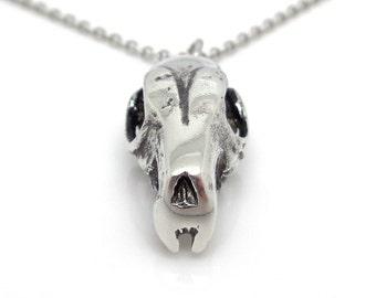 Hedgehog Skull Necklace, Animal Skull Jewelry, Hedgehog Pendant