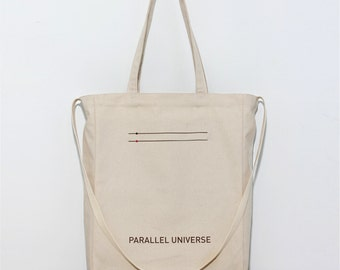Parallel Universe - Graphic tote with handles and shoulder strap. Canvas / Eco / Gifts