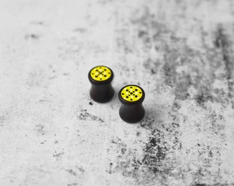 SALE ITEMS, Wooden ear plugs, 8MM, Ear Stretchers, geometric earplugs, earstuds, ear studs, gauges, hipster earrings, tunnels, on sale