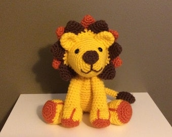 Cuddly Crocheted Lion Plush