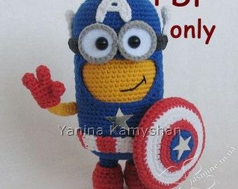 Hero Monster, crochet toy, amigurumi, PDF pattern