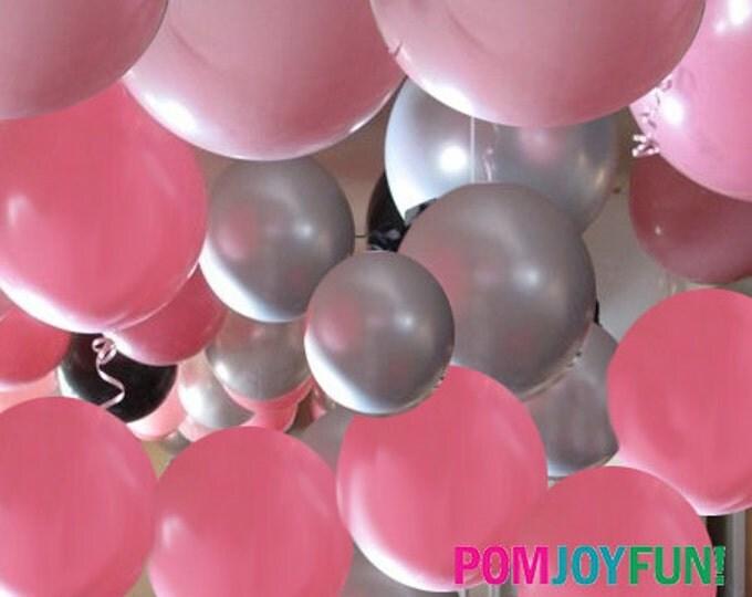 """Giant Silver Balloon 36""""    Big 36 inch Balloon   Gold Wedding Decor   Gold Birthday Party   Grey Silver Balloon"""