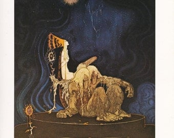 fine art print Kay Nielsen East of the Sun, West of the Moon vintage Norwegian folk tale fairy tale home decor 8.5x11.5 inches
