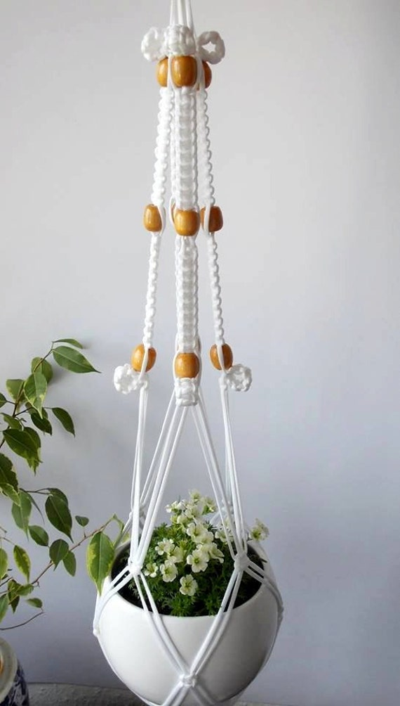 Modern Macrame Plant Hanger Indoor Plant Holder Hanging