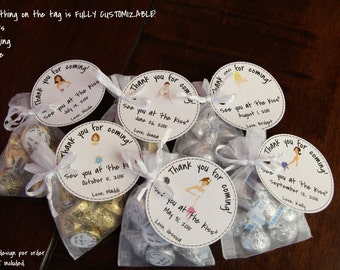 "Bridal Shower Favor Kit ""See You at the Kiss!"" FULLY CUSTOM Thank you Note - 30 Count"