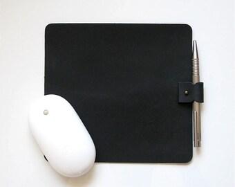 Leather Mouse Pad . leather mousepad . mousepad . monogram mousepad