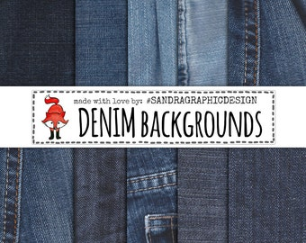 """50% OFF - Jeans digital paper: """"BLUE JEANS"""" with digital papers with blue jeans textures (418)"""