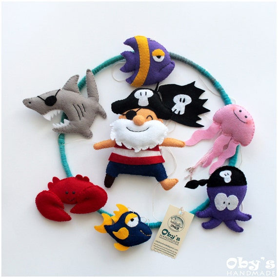 Pirate Baby Mobile Baby Mobile Pirates Mobile