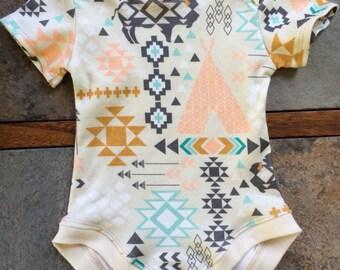 Organic Baby Bodysuit - Morning Southwest