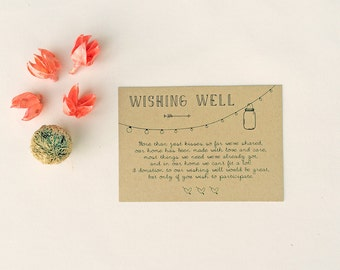 ANNABELLE: Wedding Wishing Well Card - Rustic Mason Jar Lights - DIY Digital Instant Download Printable File