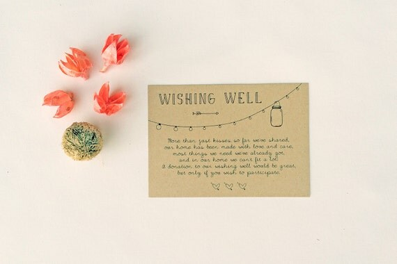 ANNABELLE Wedding Wishing Well Card Rustic By PrintableMatter