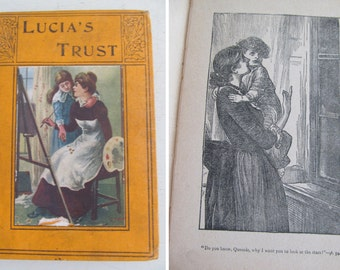 Sweetest English antique childrens book~Lucias Trust~1911~Delightful illustrations~Beautiful styling prop~Hardback~Adorable!