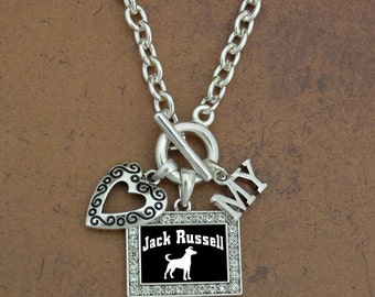 Heart My Jack Russell Terrier Necklace