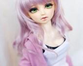 "9-10"" 7-8""doll wig,1/3 1/4bjd wig ,Fantastic Curly Hair,Twins Wig,Purple Long hair,type for volks sd10 dod leeke Pullip volks Dollfie Dream"