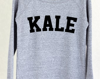 Kale - Kale Sweater - Kale Sweatshirt - Kale Top - Kale Shirt - Kale - Yoga - Yoga Top - Yoga Sweater - Sweater - Graphic Tee Women 2