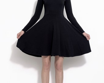 Vintage style stretch little black dress - The Kayley