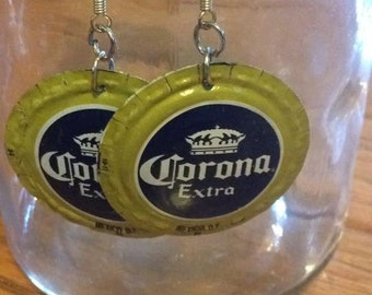 Corona Extra Bottle Cap Earrings