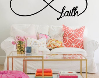 Infinity Faith Wall Decal   Bedroom Wall Decals