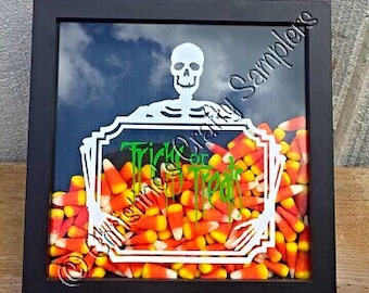 SALE - Trick or Treat Holiday shadow box