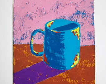 "The Morning Cup of Coffee #84 (ARTIST TRADING CARDS) 2.5"" x 3.5"" by Mike Kraus Free Shipping"