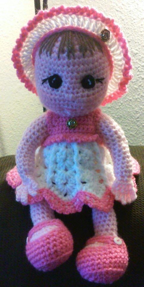 Amigurumi Crochet Dress : Crochet amigurumi baby doll with dress outfit Pattern Only