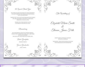 free editable funeral program template