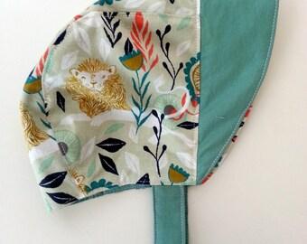 Reversible Sun Bonnet with Snap - 3-6 months