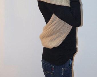 Extravagant Warm Scarf/Knitt Extravagant Shawl/Knitt Extravagant Scarf/Convertible Winter Accssesorie/F1270