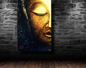 Abstract Buddha Oil Paintings