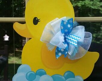 Rubber Duck Door Hanger.  Baby Shower Door Hanger.