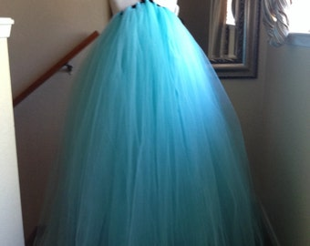 Aqua Blue flowergirl tulle dress