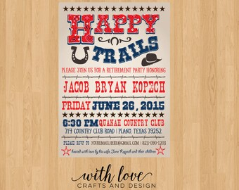 Country Western Retirement/Birthday Party Invite